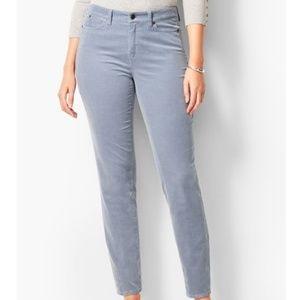 Talbots Slim Ankle Curvy Corduroy Gray Pants 16